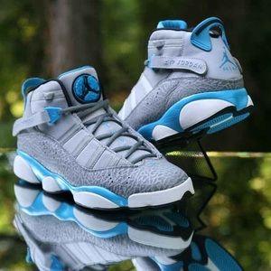 Air Jordan 6 Rings Grey Elephant Sneakers